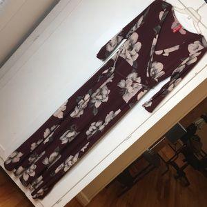 Dresses & Skirts - Lovely Burgundy Floral Print Maternity Maxi
